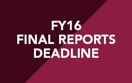 Final Reports Deadline