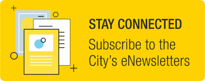 Subscribe to the City of Waterloo's enewsletters button.