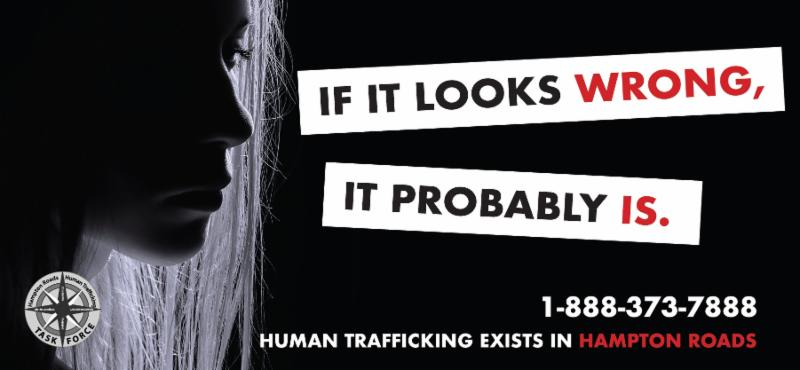 anti-human trafficking campaign image