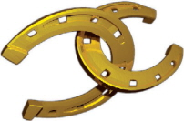 0resize Gold Horseshoes