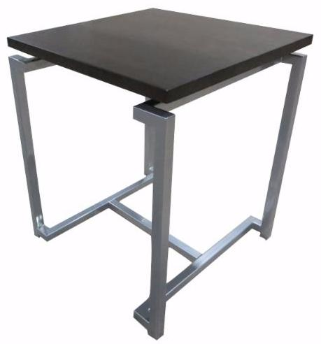 Custom Metal Accent Table with Wood Top