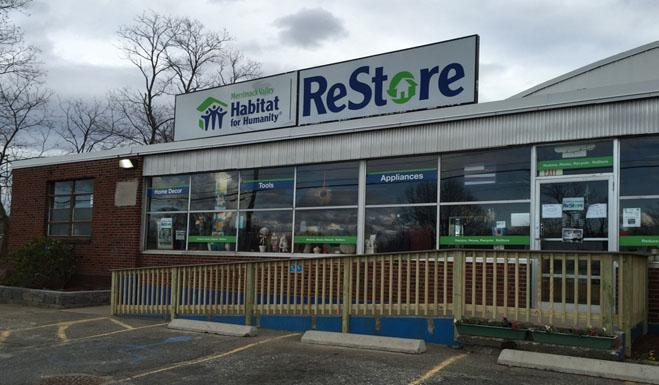 Merrimack Valley Habitat for Humanity ReStore storefront