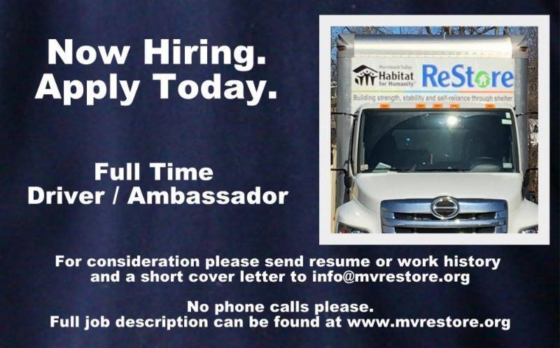 ReStore Hiring Truck Driver