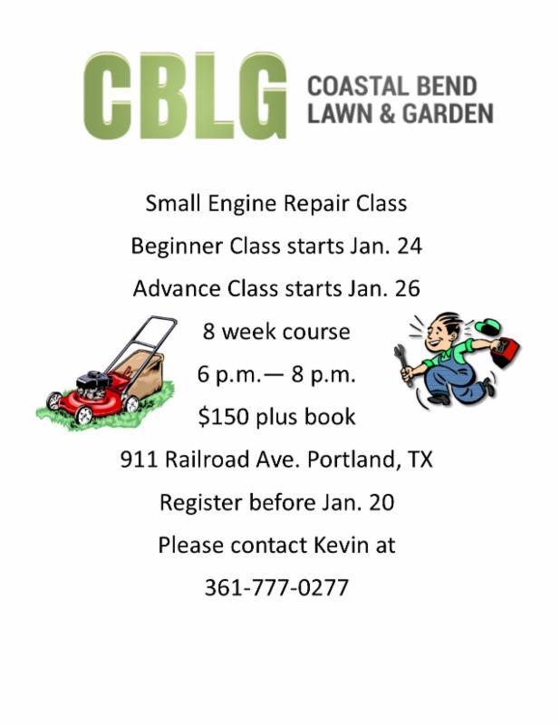 Small Engine Repair Class At Coastal Bend Lawn Garden