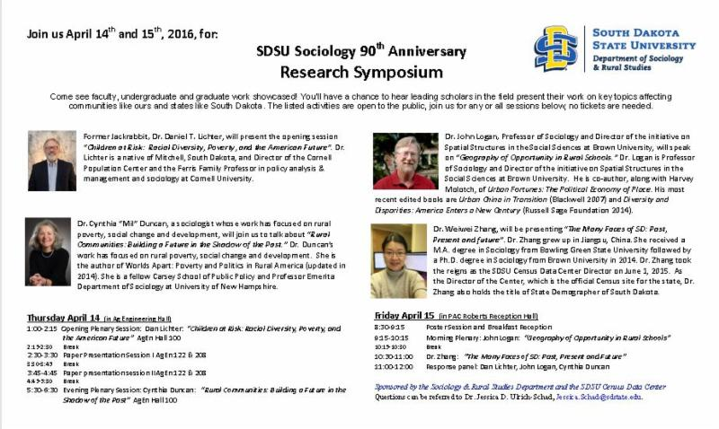SD State Sociology Happenings