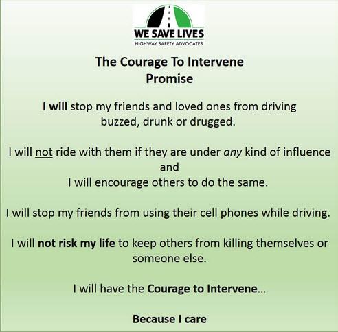 Courage to Intervene Pledge