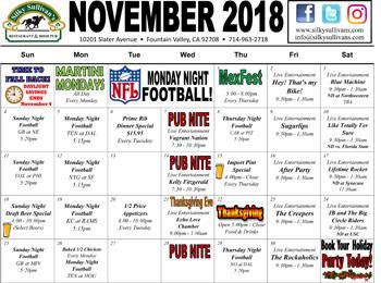 November 2018 Calendar
