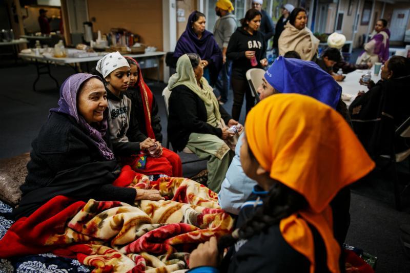 Sikh woman host dam evacuees