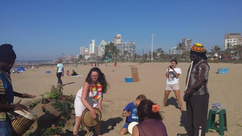 Joyous celebration_ Durban beach.