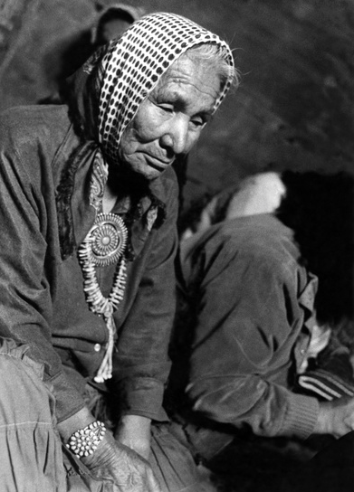 Navajo elder mourning