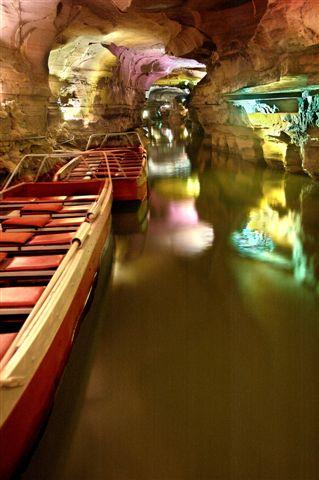 Take a boat ride through Howe Caverns.