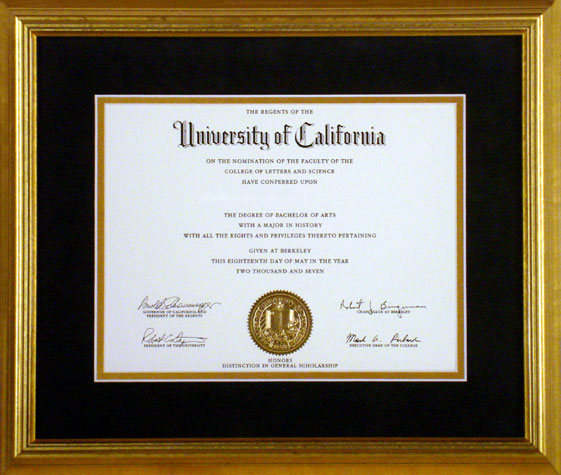 Jerry\'s Diploma Framing Special!