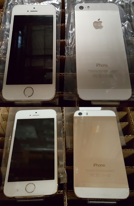 iP5S silver and gold