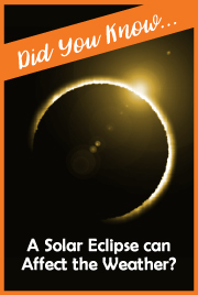 Did You Know...Solar Eclipse can Affect the Weather