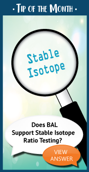 Does BAL Support Stable Isotope Ratio Testing_