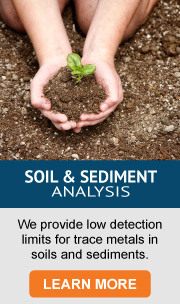 Soil _ Sediment Analysis - low detection limits for trace metals