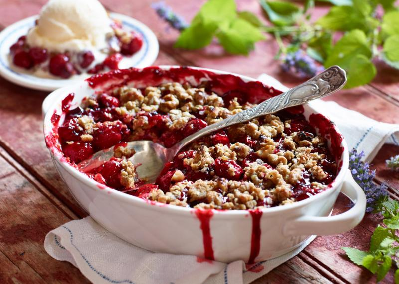 Cherry Cobbler with French Vanilla Ice Creme.