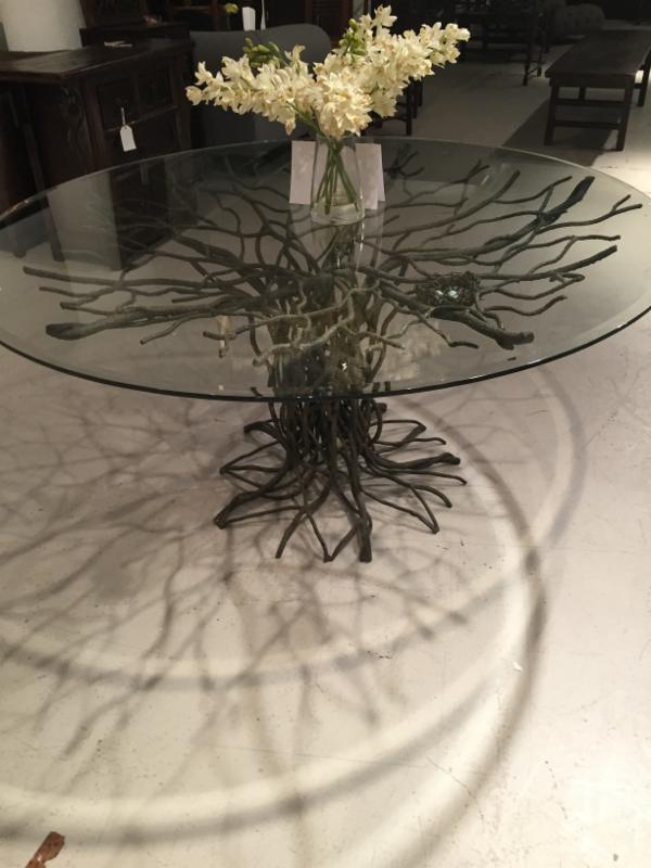 frank rogers table with floral