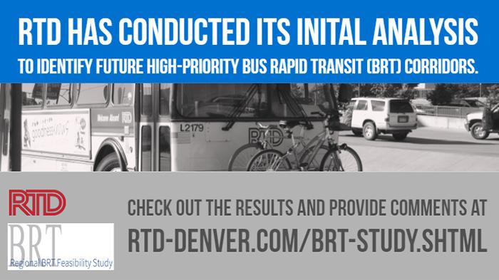 RTD BRT survey banner