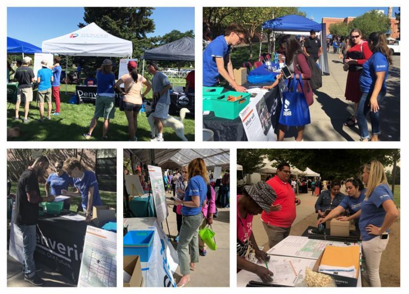 Denveright denver moves transit newsletter september 2017 collage of community members at denveright outreach events and festivals malvernweather Choice Image