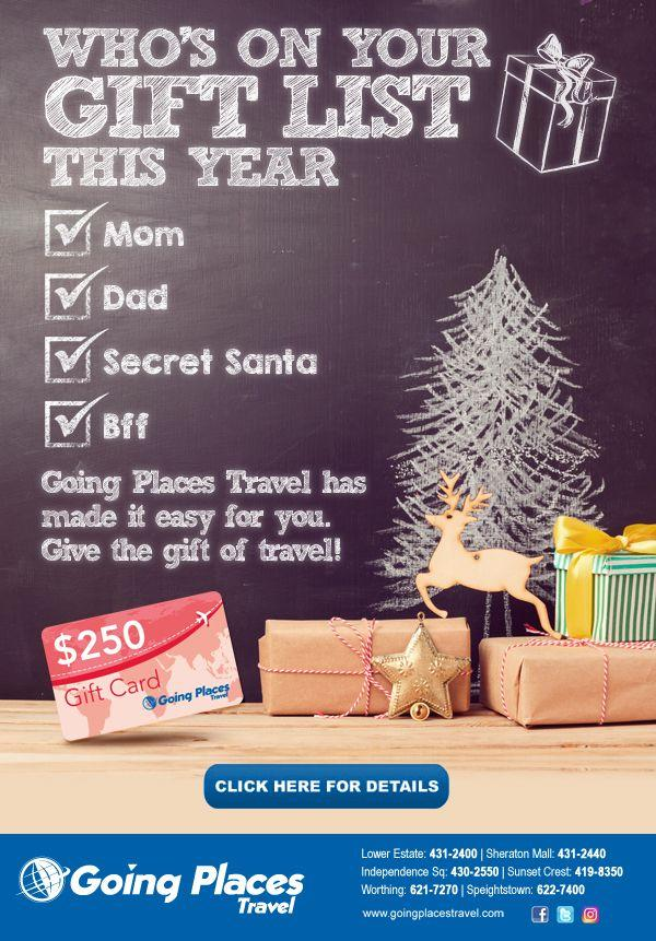 give the gift of travel with a going places gift card - Gift Card Places