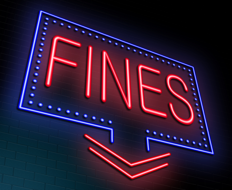 Fines sign