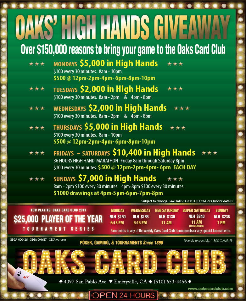 10-29-18 - Oaks Card Club