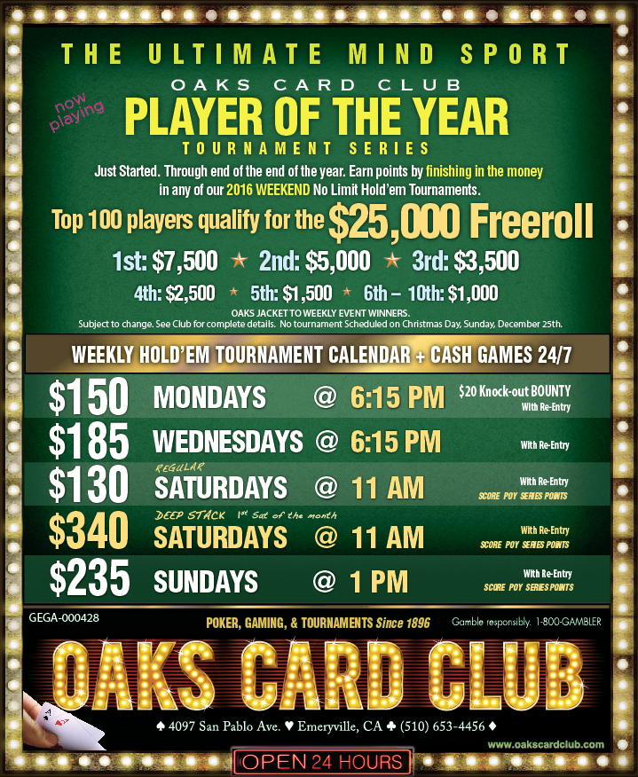 Oaks Card Club - 6-20-16