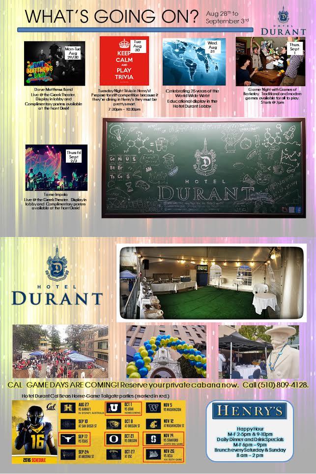 Hotel Durant - 8-29-16