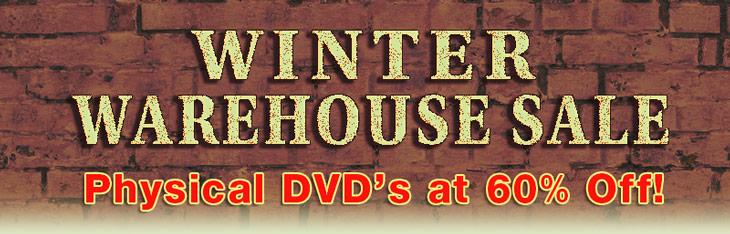 Warehouse Sale - 60 percent of downloads below