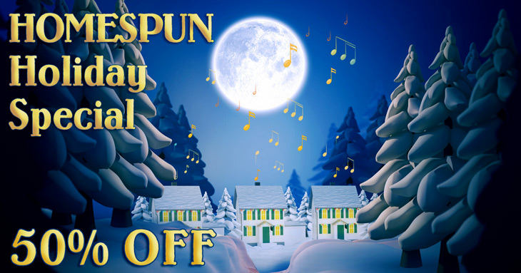 Homespun Holiday Special 50 percent of downloads