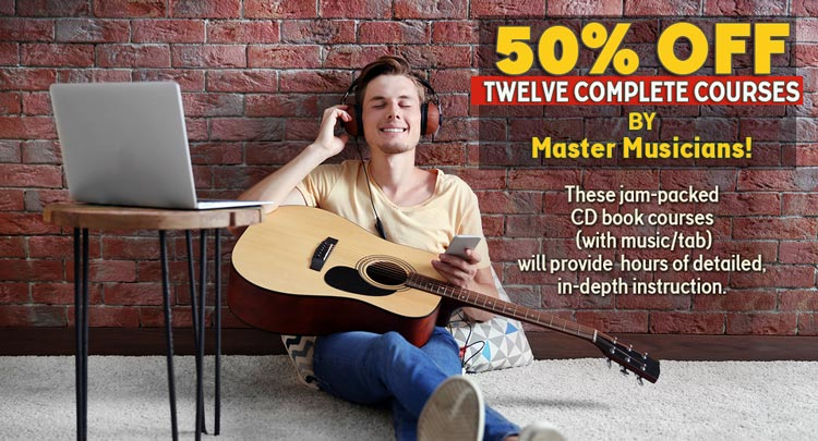 50 percent Off Twelve Complete Courses  - By Master Musicians