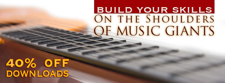 40 percent of downloads - Build Your Skills On the Shoulders _of Music Giants