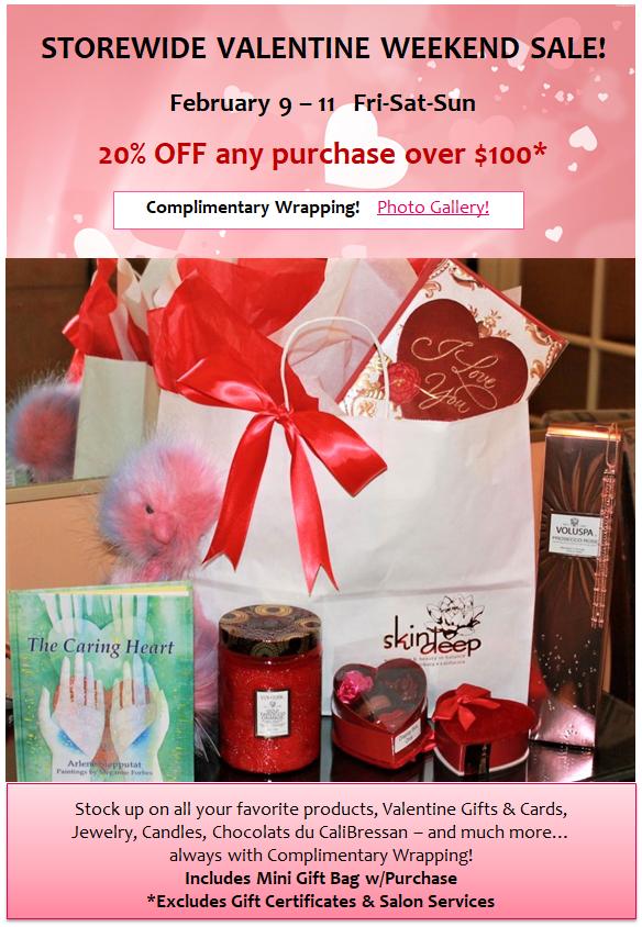 Valentine Storewide Sale
