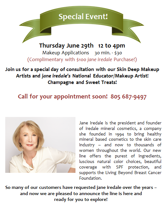 Jane Iredale Special Event