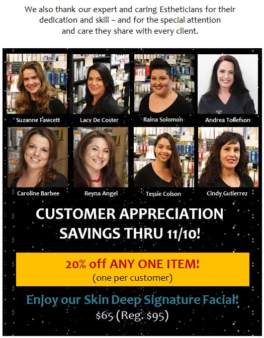 Customer Appreciation Savings!