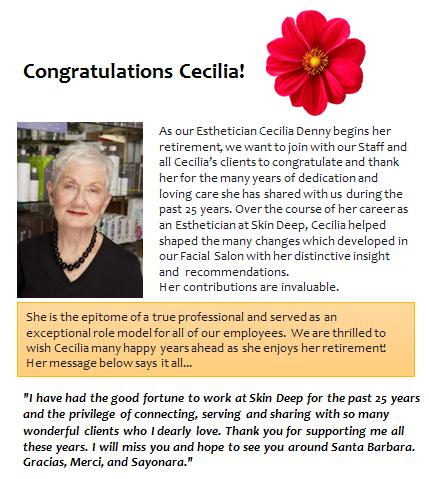 Cecilia Retires!