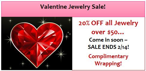 Valentine Jewelry Sale