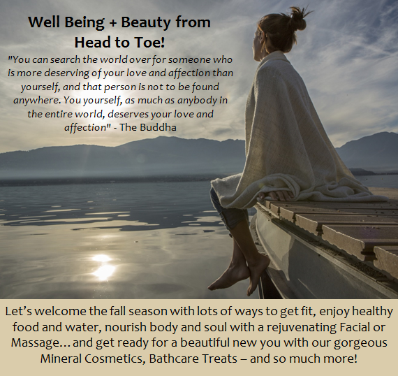Well Being + Beauty from Head to Toe!