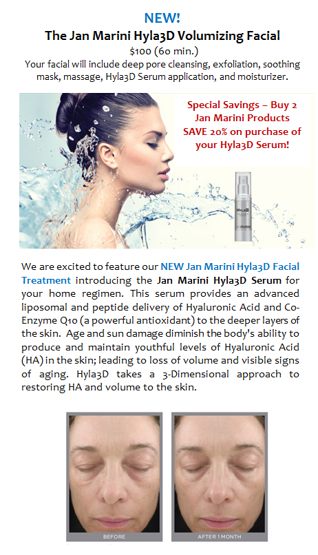 New! JM Hyla3D Volumizing Facial