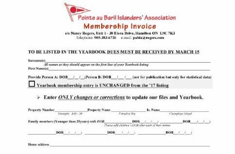 2018 PaBIA invoice