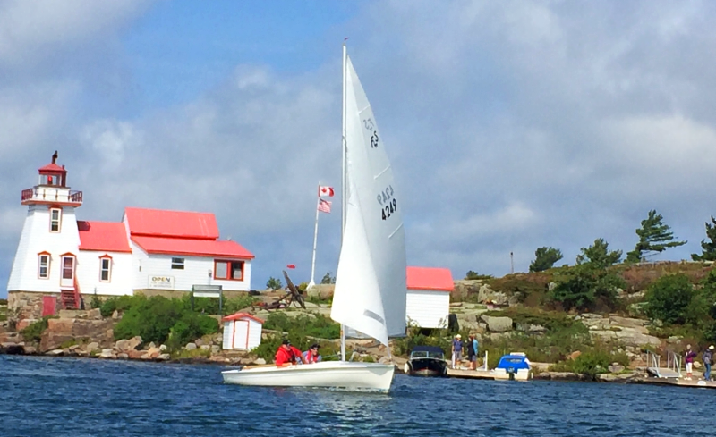 Sailing to the finish