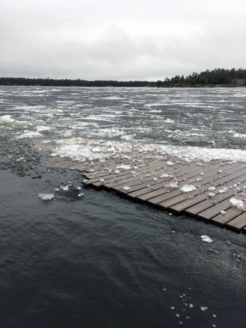 Dock in ice