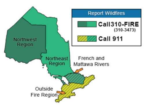 Fire Potential Ontario Map