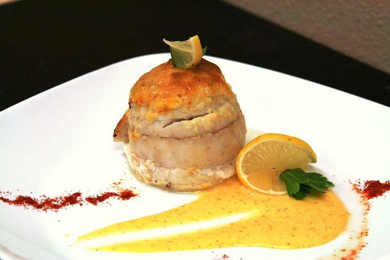 Stuffed Flounder Hollandaise