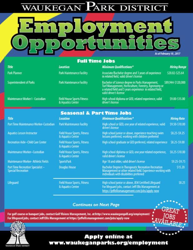 Waukegan Park District Newsletter