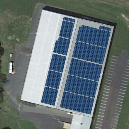 AGP Plastic Solar Array Rendition