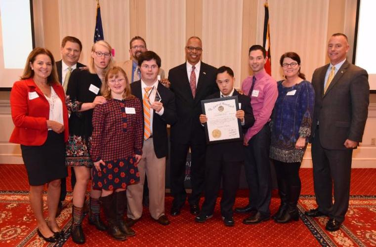 members of penn mar human services community learning services recipients of this years governors service award in the groupteam category