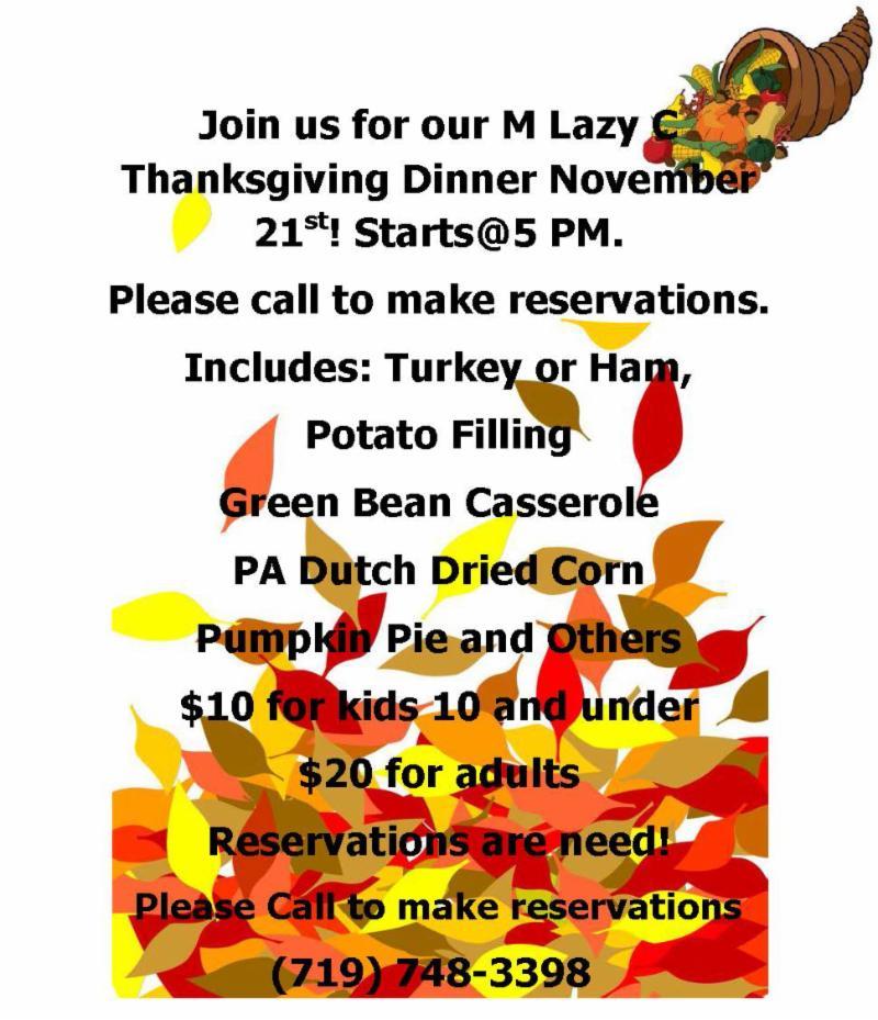 M Lazy C Thanksgiving