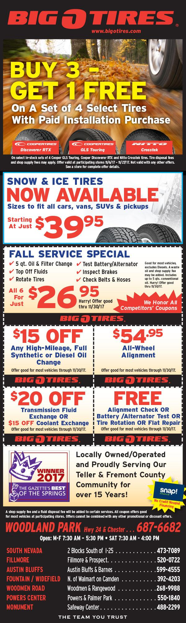 Big O Tire Sale